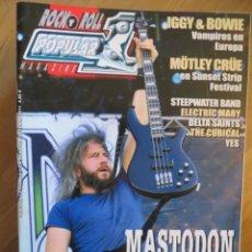 Riviste di musica: POPULAR 1:NUM.456-MASTODON-IGGY POP-BOWIE-MOTLEY CRUE-YES-OFFSPRING-KISS-ALICE COOPER. Lote 258756930