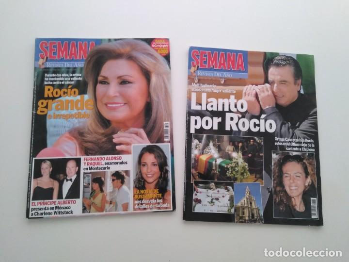 LOTE 2 REVISTAS SEMANA. MUERTE Y ENTIERRO DE ROCÍO JURADO.JUNIO DE 2006. (Música - Revistas, Manuales y Cursos)