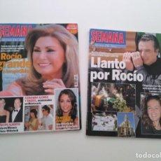 Revistas de música: LOTE 2 REVISTAS SEMANA. MUERTE Y ENTIERRO DE ROCÍO JURADO.JUNIO DE 2006.. Lote 258868970
