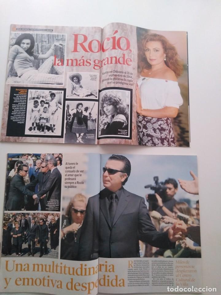Revistas de música: Lote 2 revistas Semana. Muerte y entierro de Rocío Jurado.Junio de 2006. - Foto 2 - 258868970