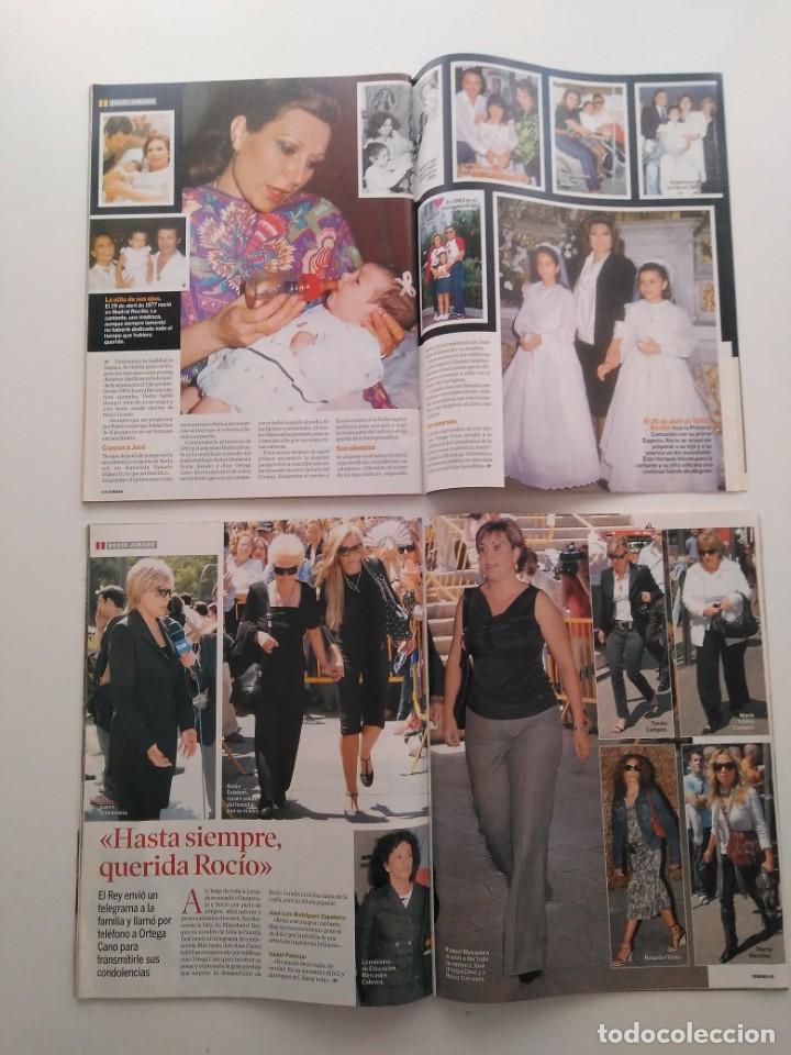Revistas de música: Lote 2 revistas Semana. Muerte y entierro de Rocío Jurado.Junio de 2006. - Foto 3 - 258868970