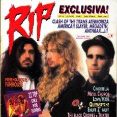 Revistas de música: REVISTA RIP NUMERO 4 MEGADETH. Lote 259032130