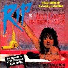 Riviste di musica: REVISTA RIP NUMERO 7 ALICE COOPER. Lote 259032790