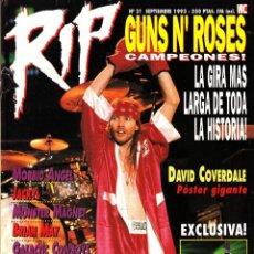 Riviste di musica: REVISTA RIP NUMERO 31 AXL ROSE. Lote 259033585