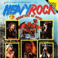 Revistas de música: REVISTA HEAVY ROCK NUMERO 97 MONSTERS OF ROCK CON POSTER DE METALLICA. Lote 259036755