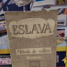 Revistas de música: METODO DE SOLFEO ..ESLAVA....PRIMERA PARTE....... Lote 260379560