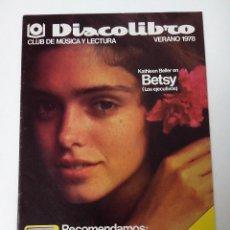 Revistas de música: DISCOLIBRO REVISTA CATALOGO VERANO 1978. Lote 261294290