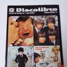 Revistas de música: DISCOLIBRO REVISTA CATALOGO PRIMAVERA 1977. Lote 261294365