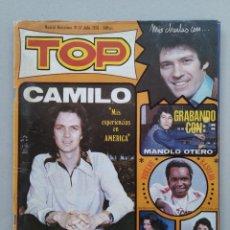 Revistas de música: REVISTA TOP - Nº 13 - CAMILO SESTO - JULIO 1976 - CON DOS POSTERS...L3901. Lote 262414270