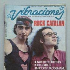 Magazines de musique: REVISTA VIBRACIONES - Nº 23 - AÑO 3 - ROCK CATALAN - PAU RIBA Y SISA - 1976 - CON POSTER...L3906. Lote 262417625