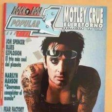 Revistas de música: POPULAR 1 NUM 284 MOTLEY CRUE, JON SPENCER BLUES EXPLOSION, MARILYN MANSON, FEAR FACTORY, MANOWAR. Lote 262444245