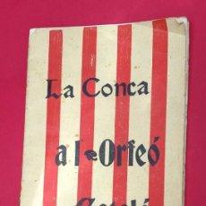Revistas de música: ORFEÓ CATALÁ - LA CONCA DE BARBARÁ - 1903. Lote 262590470