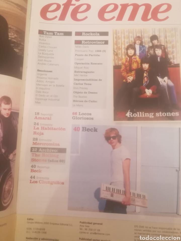 Revistas de música: Revista efe eme. Nº 66. Marzo 2005. Rolling Stones. La Habitación Roja. Amaral. Beck. Chunguitos. - Foto 2 - 262642095