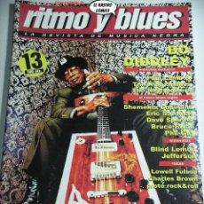 Revistas de música: RITMO Y BLUES Nº 13, BLIND LEMON JEFFERSON, PHIL GUY, SHEMEKIA COPELAND, BRUCE EVAN, PAUL LAMB, BO. Lote 262644250