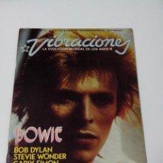 Revistas de música: REVISTA VIBRACIONES Nº 3 AÑO 1 1974 DAVID BOWIE ALGUN RECORTE VER FOTOS. Lote 262811065
