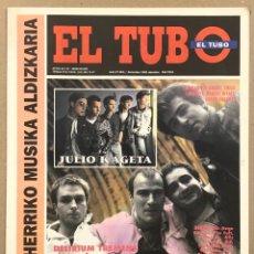 Revistas de música: EL TUBO N° 27 (1991). M.C.D., JULIO KAGETA, DELIRIUM TREMENS, NEGU GORRIAK, DANBA, GAZTETXES,. Lote 263296790