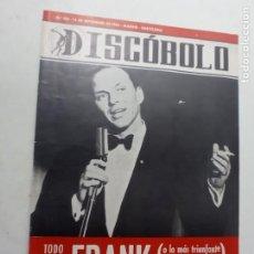 Riviste di musica: REVISTA AÑO 1966 DISCÓBOLO 108 FRANK SINATRA LOS PEKENIKES LOS BRAVOS LOS BEATLES. Lote 265901708