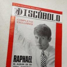 Riviste di musica: REVISTA AÑO 1966 DISCÓBOLO 104 RAPHAEL BOB DYLAN TITO MORA FRANK SINATRA LOS TROGGS. Lote 265903168