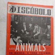 Riviste di musica: REVISTA 1966 DISCÓBOLO 91 LOS ANIMALS BRINCOS LOS FLECOS MARISOL NURIA FELIU LOS TRES SUDAMERICANOS. Lote 265903418