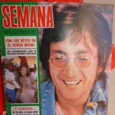 Revistas de música: JOHN LENNON EX -THE BEATLES 27-12 .1980 SEMANA. Lote 266194553