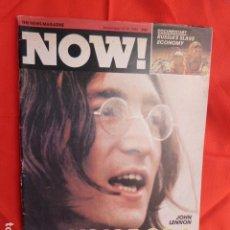 Revistas de música: JOHN LENNON EX -THE BEATLES 1-12 .1980 REVISTA NOW. Lote 266197093