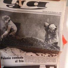 Revistas de música: JOHN LENNON EX -THE BEATLES 10-12 .1980 PERIODICO YA REPORTAGE EN PAGINAS CENTRALES. Lote 266200718