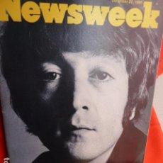 Revistas de música: JOHN LENNON EX -THE BEATLES 10-12 .1980 NEWSWEEK USA. Lote 266206303