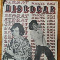Revistas de música: DISCOCAR Nº 6 DE 1972- MIGUEL RIOS Y SERRAT- ENCARNITA POLO- CARLOS ANTON- JOE COCKER- NINO BRAVO.... Lote 267550154