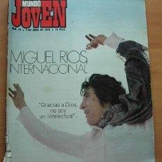 Revistas de música: REVISTA MUNDO JOVEN Nº 79 MIGUEL RIOS GIORGIO LOS IBEROS LLUIS LLACH POSTER: EUROVISION '70 COMPLETA. Lote 268266939