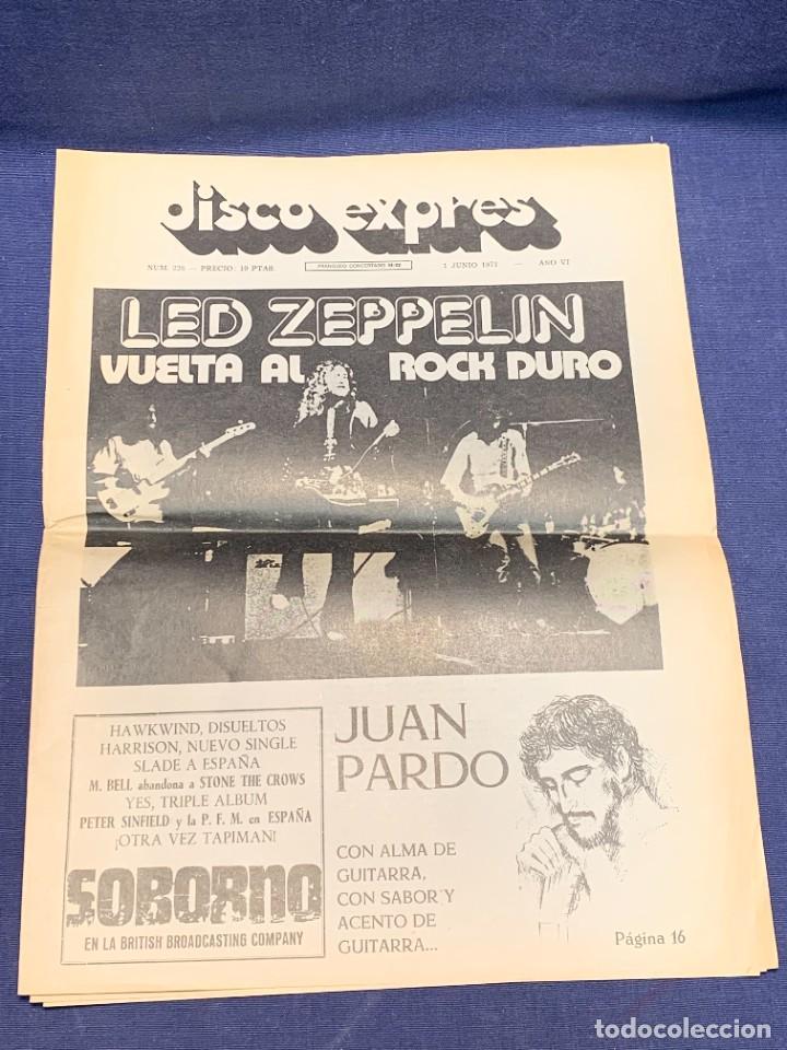 PERIODICO DISCO EXPRES Nº 226 AÑO 1973 LED ZEPPELIN 35X27CMS (Música - Revistas, Manuales y Cursos)