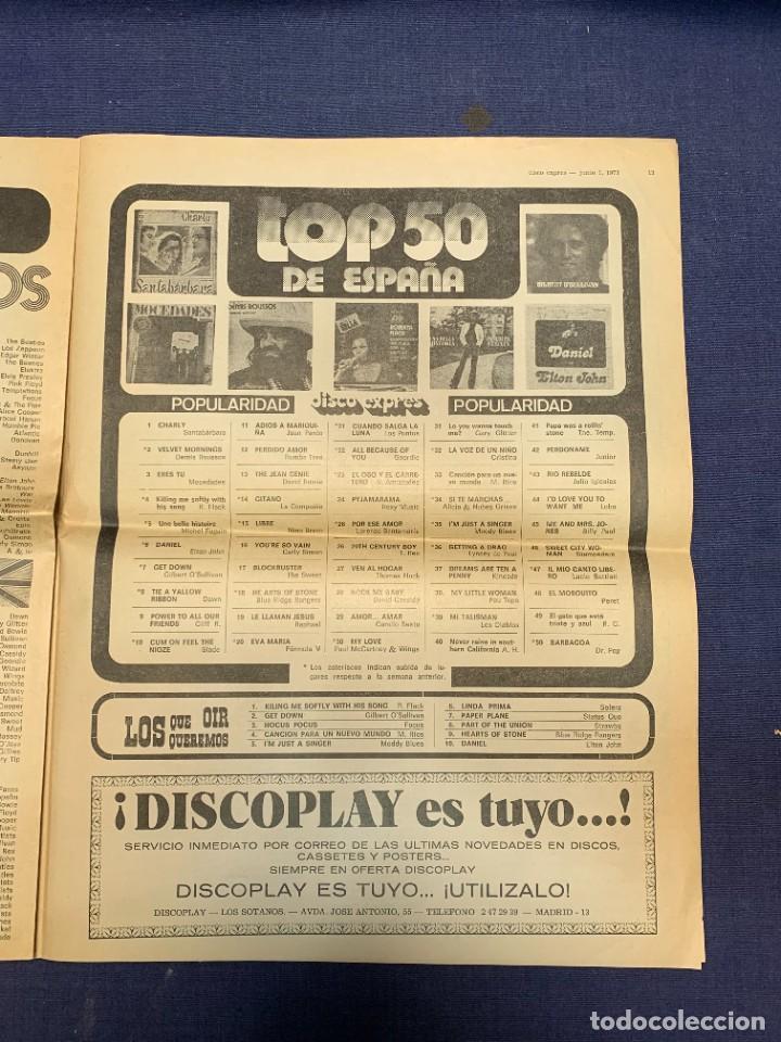 Revistas de música: PERIODICO DISCO EXPRES Nº 226 AÑO 1973 LED ZEPPELIN 35X27CMS - Foto 16 - 270943263