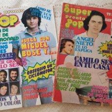 Riviste di musica: LOTE REVISTAS SUPER POP - Nº 1 Y 2 - AÑO 1977 - COMPLETAS. Lote 274208108
