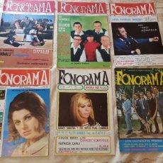 Riviste di musica: LOTE 6 REVISTAS MUSICALES - FONORAMA - ORIGINALES - AÑOS 60. Lote 274218748