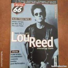 Revistas de música: RUTA 66 NUM 160. LOU REED BLACK POWER ROY ORBISON JOE JACKSON STEVE HARLEY NACHO LAGUNA MC COYSON. Lote 274271158