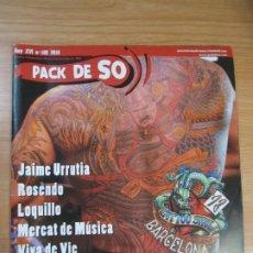 Riviste di musica: REVISTA PACK DE SO Nº103 ANY 2010 LOQUILLO JAIME URRUTIA ROSENDO. Lote 274570863