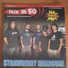 Revistas de música: REVISTA PACK DE SO Nº86 STRAWBERRY HARDCORE INOQUO. Lote 274659533