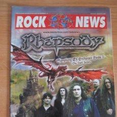 Revistas de música: REVISTA ROCK NEWS Nº42 AÑO 2004 RHAPSODY DIO POSTER MOTORHEAD. Lote 274660508