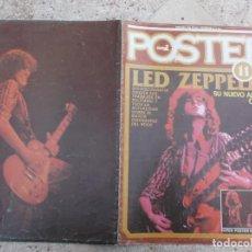 Riviste di musica: POPULAR 1, POSTER Nº 11, LED ZEPPELIN, SUPER POSTER 60 X 80, HA SIDO CLAVADO PARED. Lote 275198603