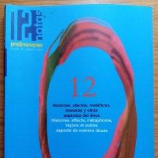 Revistas de música: 12 NOTAS. PRELIMINARES Nº 12. 2003.. Lote 275341883