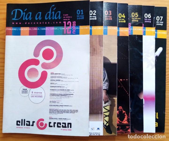 LOTE DE LOS 20 PRIMEROS NÚMEROS Y 1 SUPLEMENTO DE LA REVISTA DÍA A DÍA DE 12 NOTAS. 2008-2012. (Música - Revistas, Manuales y Cursos)