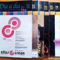 Revistas de música: LOTE DE LOS 20 PRIMEROS NÚMEROS Y 1 SUPLEMENTO DE LA REVISTA DÍA A DÍA DE 12 NOTAS. 2008-2012.. Lote 275342073