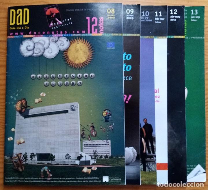 Revistas de música: LOTE DE LOS 20 PRIMEROS NÚMEROS Y 1 SUPLEMENTO DE LA REVISTA DÍA A DÍA DE 12 NOTAS. 2008-2012. - Foto 2 - 275342073