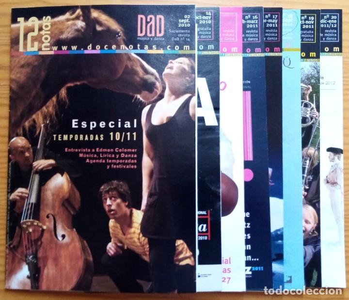 Revistas de música: LOTE DE LOS 20 PRIMEROS NÚMEROS Y 1 SUPLEMENTO DE LA REVISTA DÍA A DÍA DE 12 NOTAS. 2008-2012. - Foto 3 - 275342073