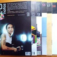 Revistas de música: LOTE DE 7 NÚMEROS DE LA REVISTA 12 NOTAS. NOS. 50, 53-55, 57-59.. Lote 275342108