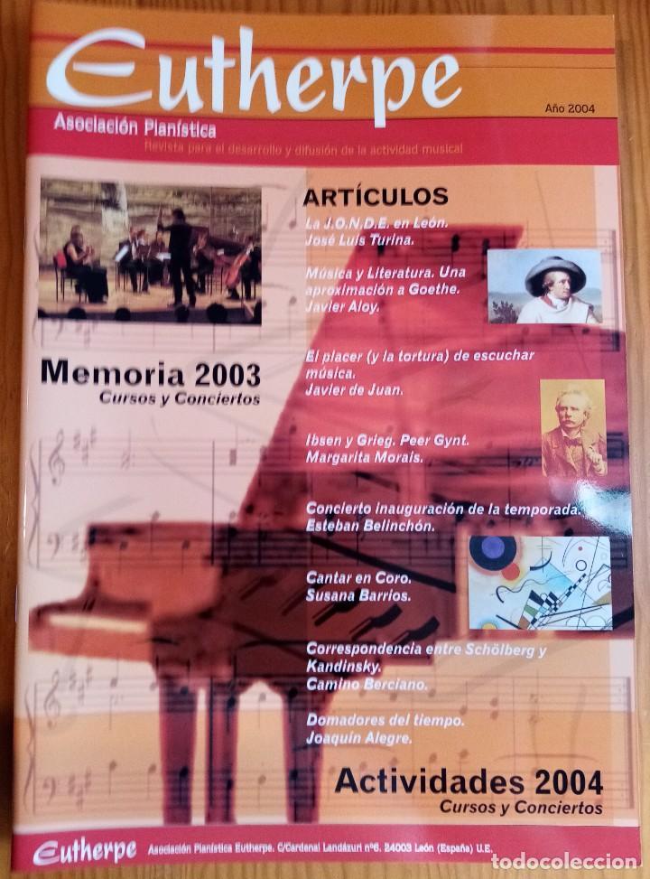 LOTE DE 4 NÚMEROS DE LA REVISTA EUTHERPE. AÑOS 2004-2006 & 2008. (Música - Revistas, Manuales y Cursos)