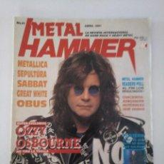 Revistas de música: METAL HAMMER Nº 41: METALLICA, SEPULTURA, SABBAT, OBUS, OZZY, CON POSTERS MOTORHEAD & FAITH NO MORE. Lote 275468903