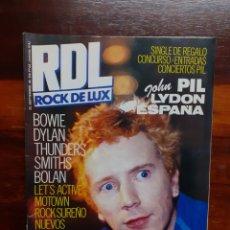 Magazines de musique: REVISTA RDL ROCK DE LUX. N°22. SEPTIEMBRE 1986. BUEN ESTADO.. Lote 275932728