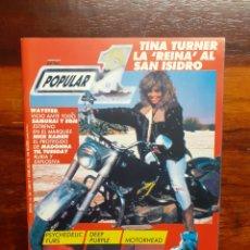 Magazines de musique: REVISTA POPULAR 1 ROCK N ROLL MAGAZINE. N°166.ABRIL 1987.CON VARIOS POSTER VAN HALEN...BUEN ESTADO. Lote 275941833