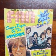 Magazines de musique: REVISTA FAN ENGLISH EUROPEAN ADITION. SEPTIEMBRE 1974. EN INGLES. EN BUEN ESTADO.. Lote 275947468
