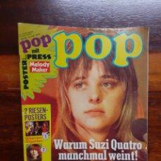 Riviste di musica: REVISTA POP. EDICION ALEMANA. N°4/75. CON POSTER PEQUEÑO DE STATUS QUO.. Lote 275948603